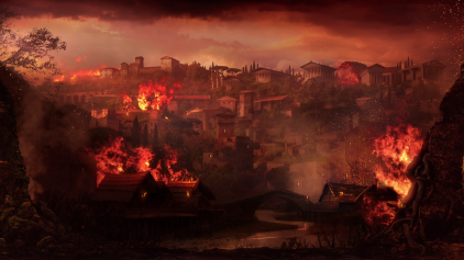 DIVO NERONE - 2017 - Matte painting + Flames in post production by Makinarium s.r.l.