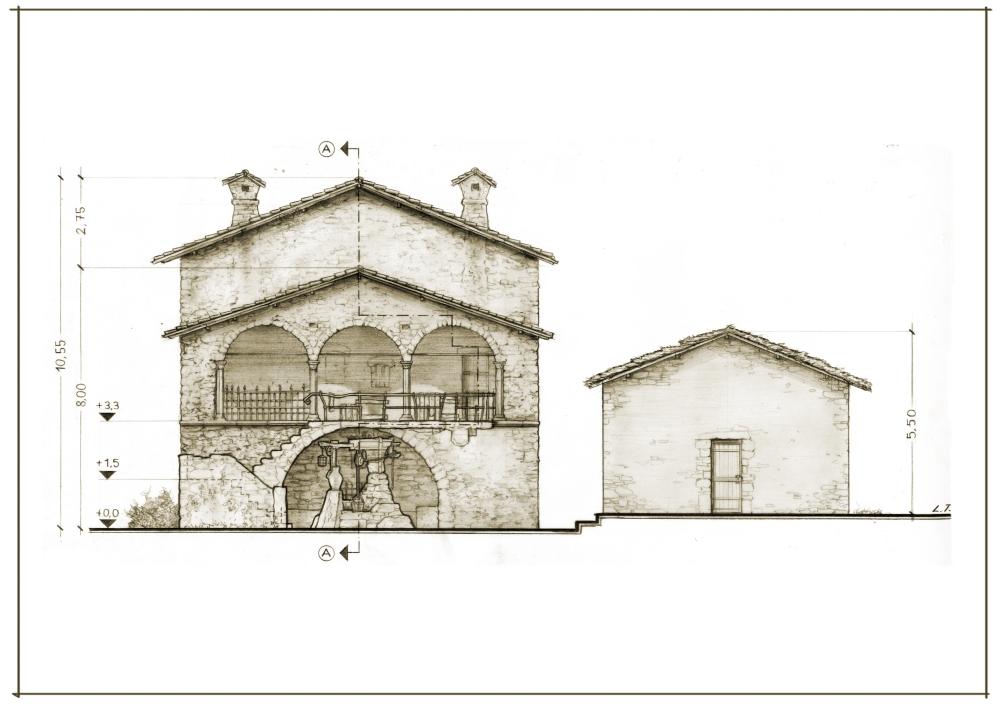 30 Casa Comare Esterno A3 Prospetto