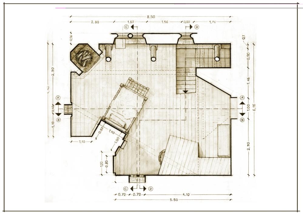 37 Casa Comare Interno A3 Pianta