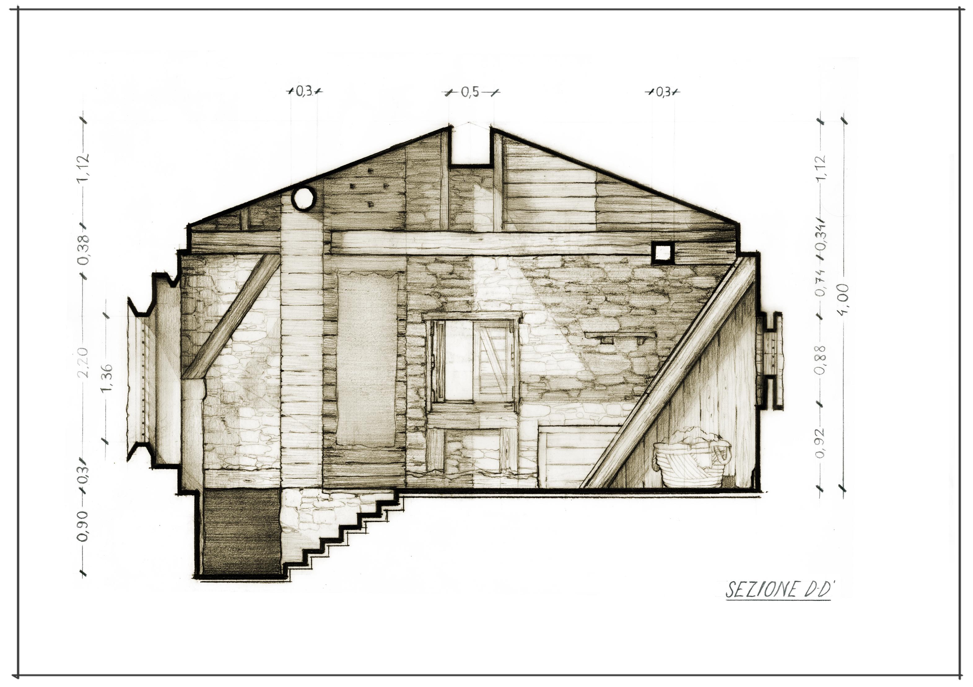 39 Casa Comare interno A3 Sezione D